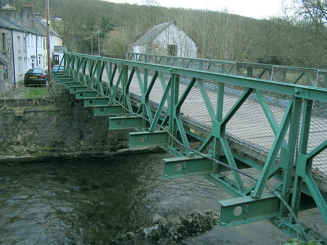Bridge over the river Tawe west of Abercraf