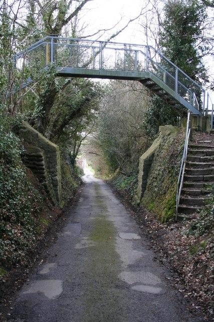 Footbridge over Vanity Lane