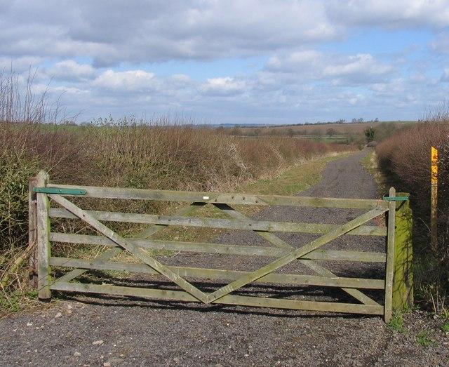 Sandy Lane near Burrough Hill