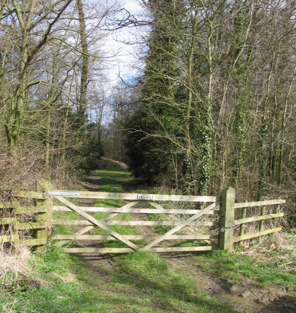 Gate into Landfield Spinney