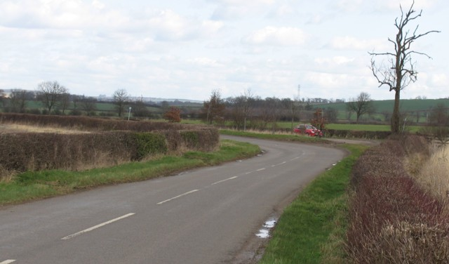 Country road near to Little Dalby
