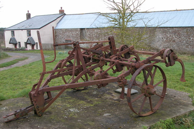 Old farm machinery at Labdon