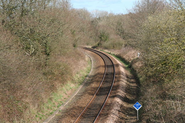 Talaton: Exeter – Salisbury railway near Lashbrook