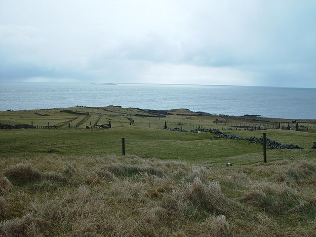 Field strips at Nisthouse, Isbister, Whalsay, Shetland