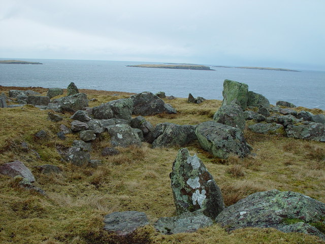 Standing Stones of Yoxie, Whalsay, Shetland