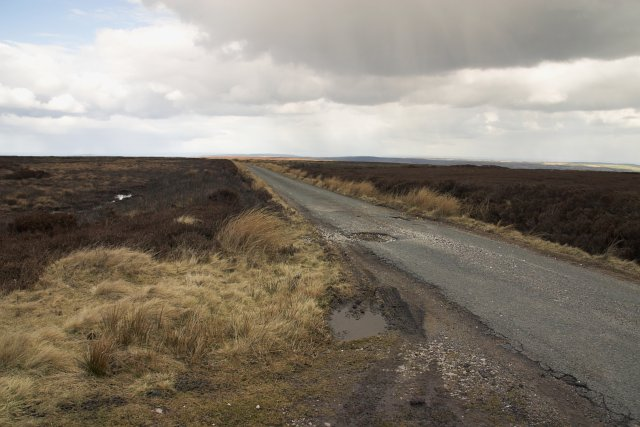 Single track road on Danby High Moor