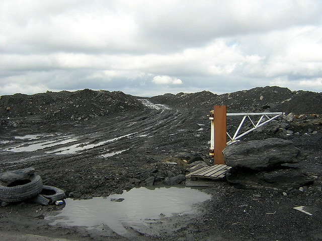 Track to Opencast Mine Spoil Heap Near Plains
