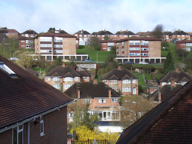 Residential hillside, High Wycombe