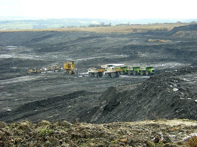 Opencast Coal Mine Near Plains