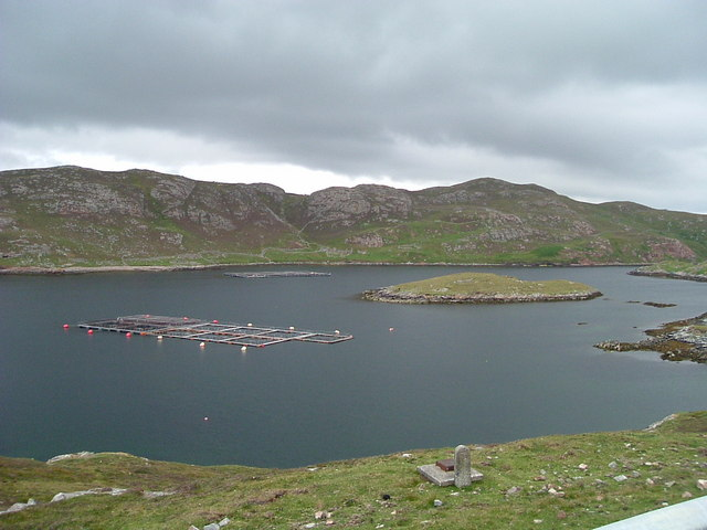 Salmon Farms at Gunnister Voe