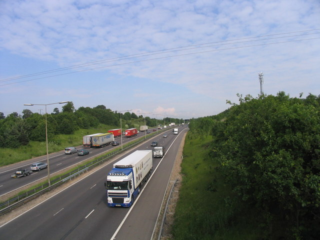 Between junctions 28 and 29 - M25