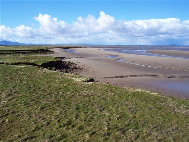 Skinburness Marsh and the river Waver Channel.