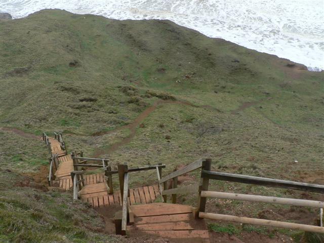 Staircase to the Beach at Compton Bay(2)