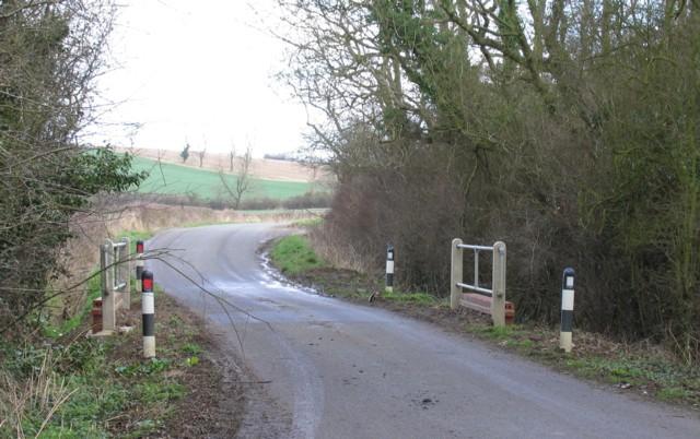 Bridge over stream near Burrough Hill