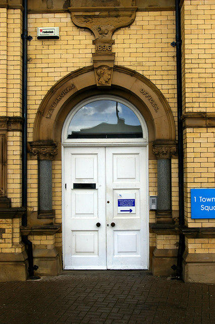 Doorway to Waterworks Offices, Grimsby