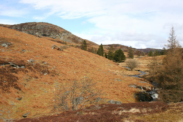 Rocky Hillside north of Dowally Loch