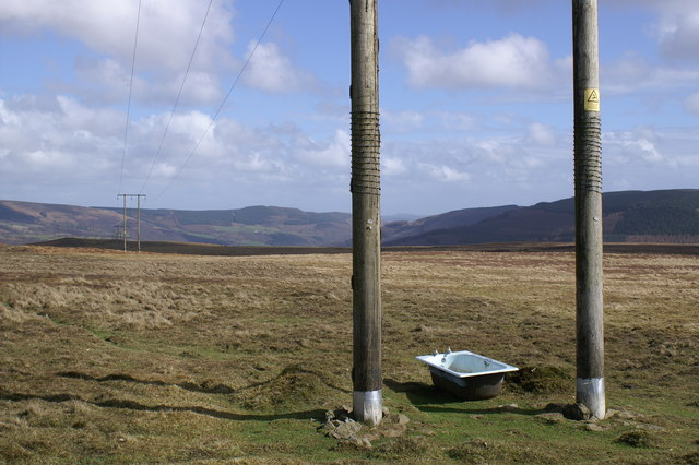Bath under a Power Line