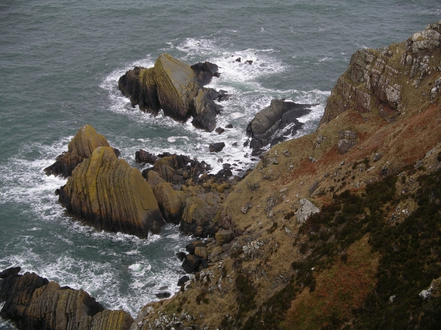Rocks below Step Heugh