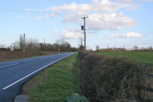The B676 Six Hills to Loughborough Road