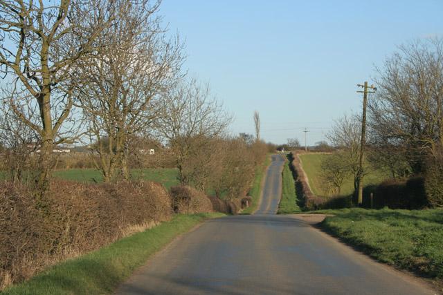Narrow Lane near Six Hills
