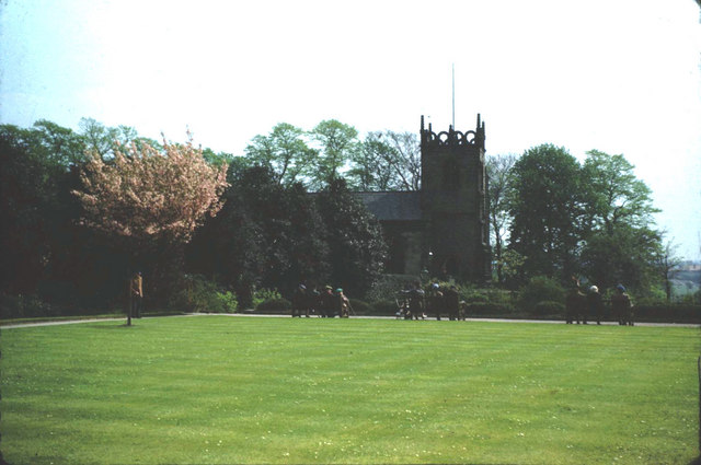 The Bowling Green, Fletcher Moss Fields and St. James' Church.