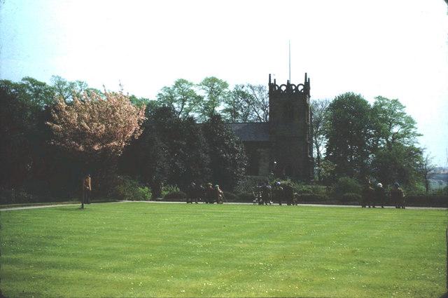 The Bowling Green, Fletcher Moss Fields and St. James' Church.