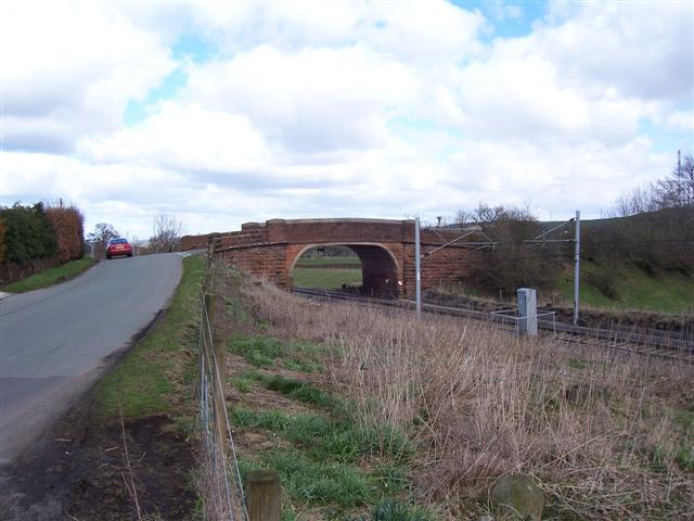 Mainline road bridge over the railway.