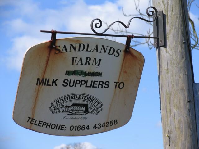 Sandlands Farm Sign