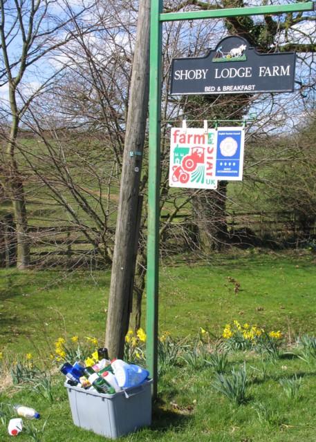 Shoby Lodge Farm Sign