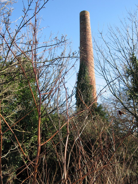 Chimney-stack at East Barns Farm, near Dunbar