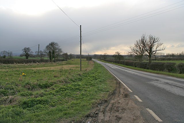 B676 leading to Burton on the Wolds