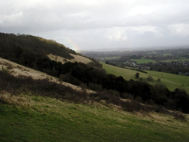 Looking east from Box Hill