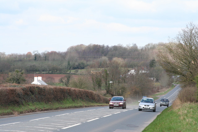 Burlescombe: the A38 at Red Ball