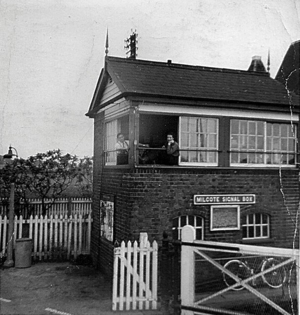 Milcote signal box in 1966
