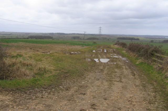 View from Hose Hill towards Melton Mowbray