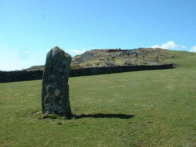 Standing Stone near Foel Senigl