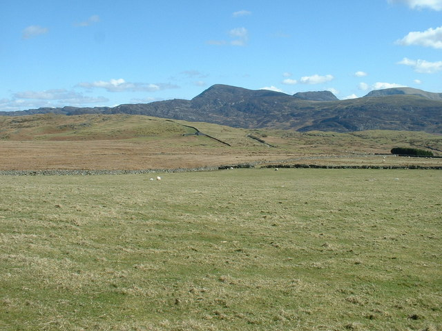 Farmland looking towards the Rhinogs