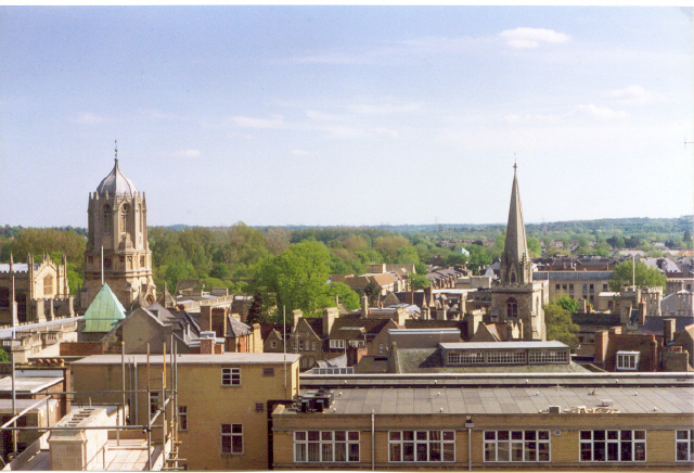 Oxford from Carfax Tower,  looking south