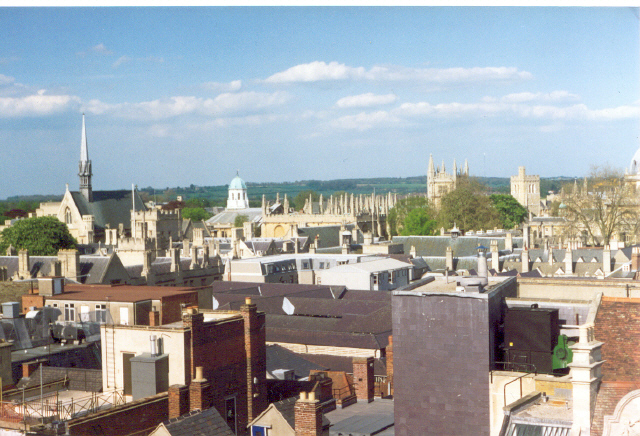 Oxford from Carfax Tower looking ENE