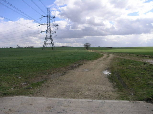 Farm Track and Pylons