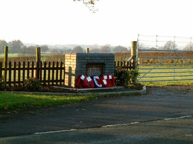Memorial to the Airmen who died when their plane disintegrated on the 28th October 1944