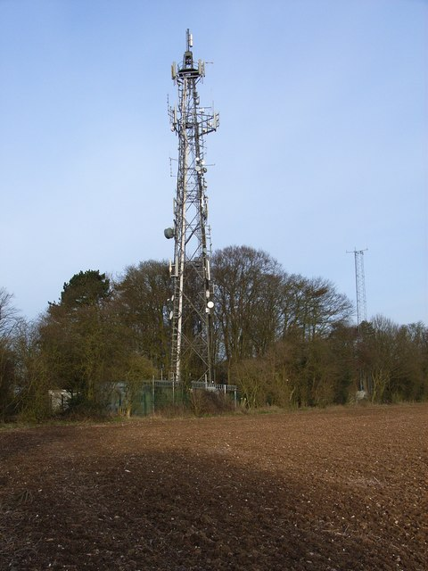 Telecommunications masts above Wycombe