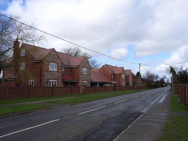 Modern brick and flint houses, Great Kingshill