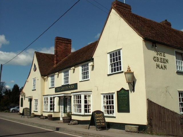 'The Green Man' inn at Howe Street, Essex