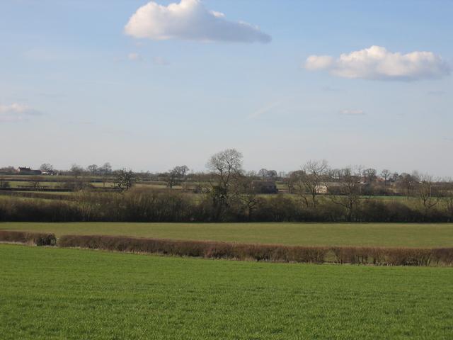 View towards Radbourne Manor Farm