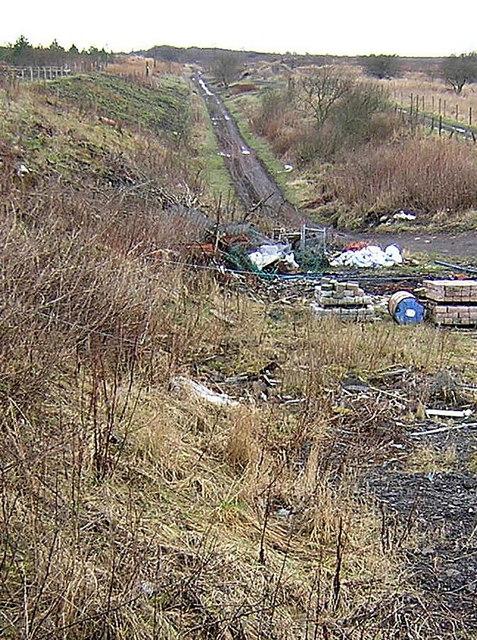 Line of Dismantled Railway at Longriggend