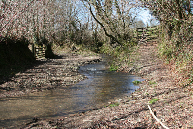 East Anstey: ford on bridleway