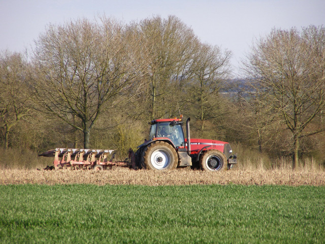 Ploughing near Middleton Farm