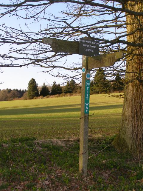Test Way signpost above Middleton