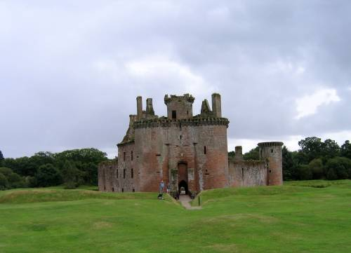 Caerlaverock Castle nr Dumfries Scotland